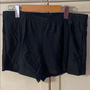 Black swim shorts in size 16